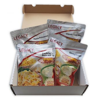 16 Serving Sample Pack, Open displaying it's contents