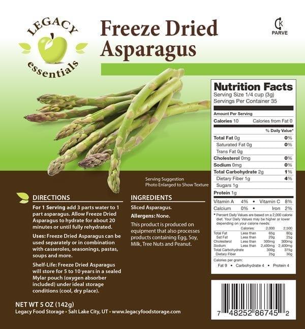 Asparagus Label