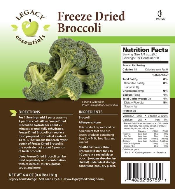 Broccoli Label