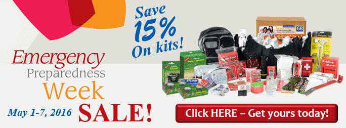 Emergency Preparedness Week Sale 2016