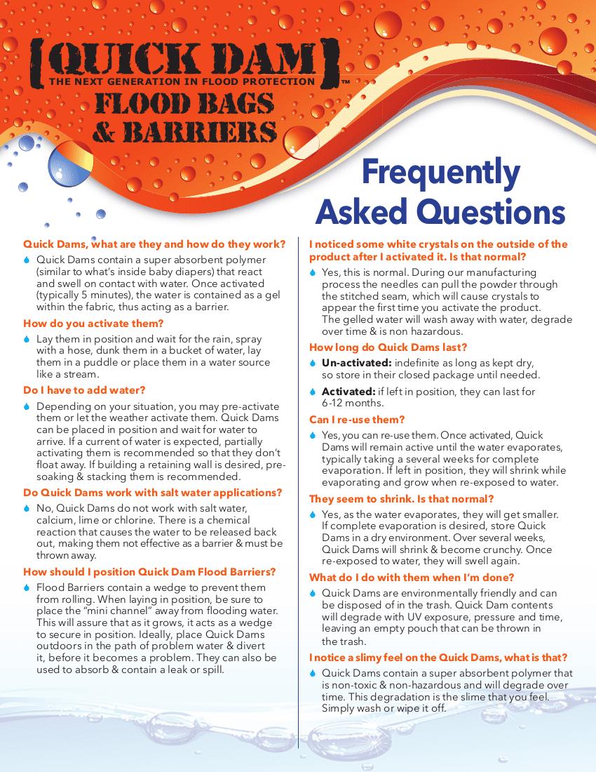FAQ -Quick Dams1