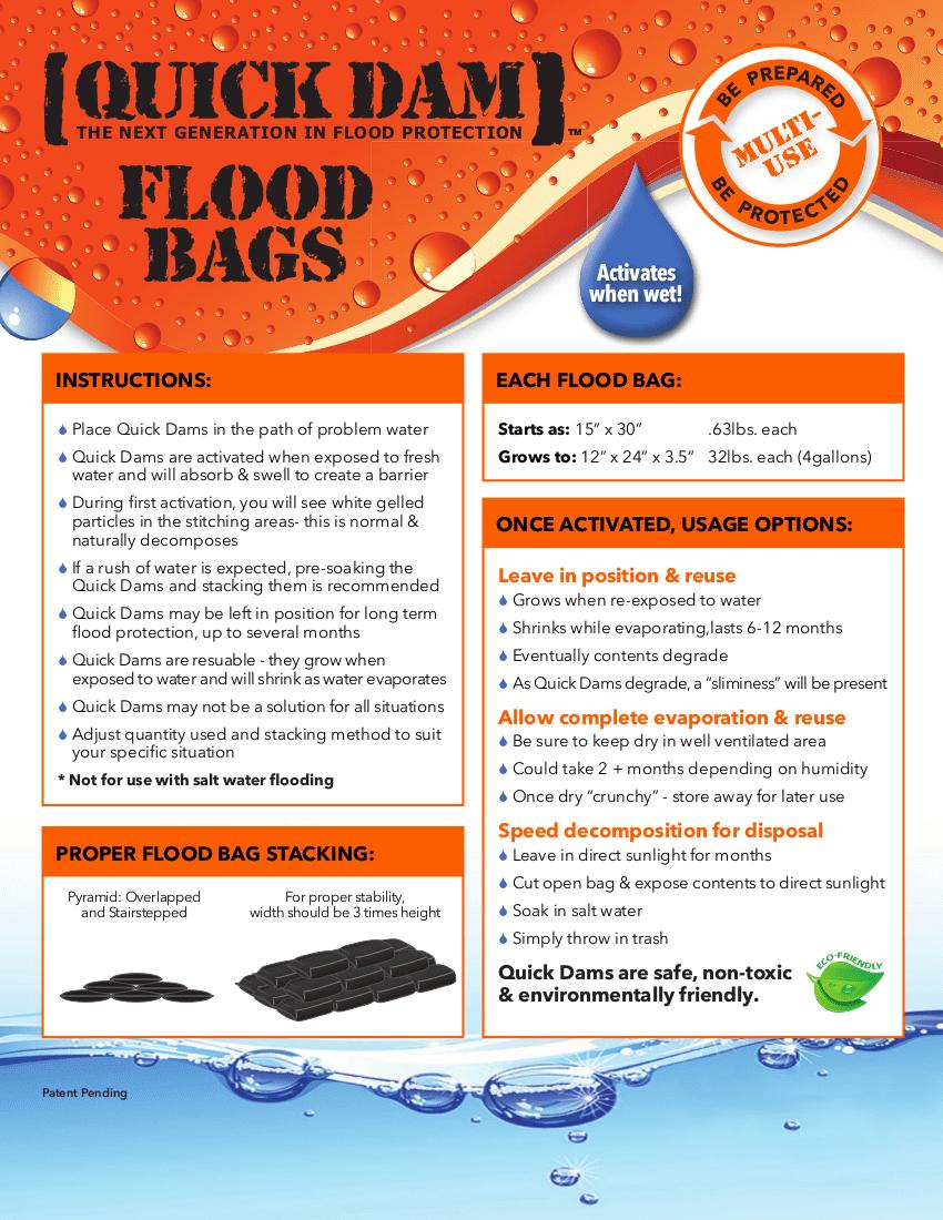 FloodBagsInstructions