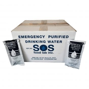 Case of 96 SOS Water Pouches