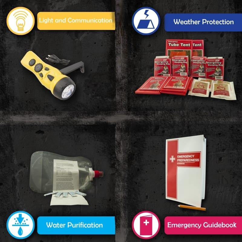 Urban 72 Hr Survival Kit 4 Person Total Prepare Inc