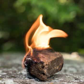 Vesta Fire Starter burning