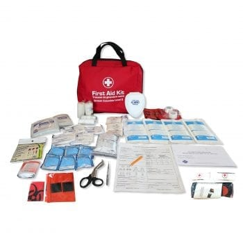 WCB Level 2 First Aid Kit with Contents Displayed