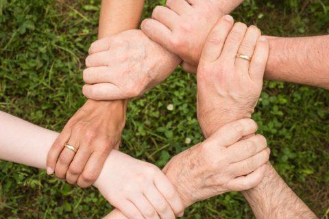 Family hand circle