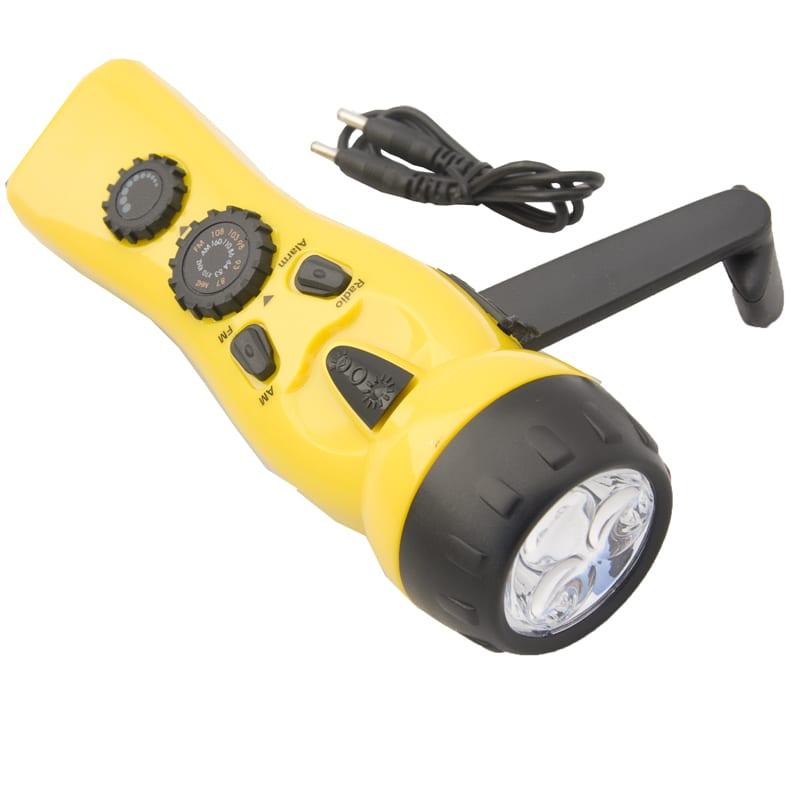 Dynamo Radio Flashlight Charger Yellow Total Prepare