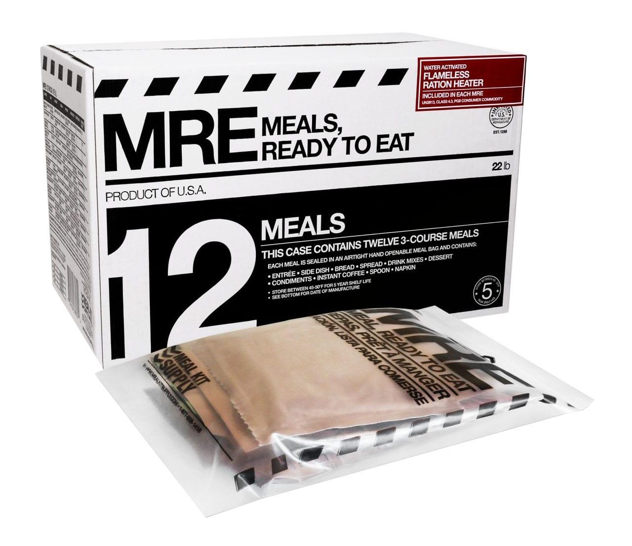 mre meals ready to eat 12 pack. Black Bedroom Furniture Sets. Home Design Ideas
