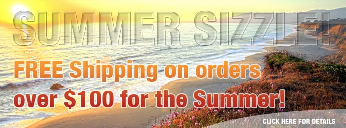 FREE Shipping on orders over $100 for the Summer!